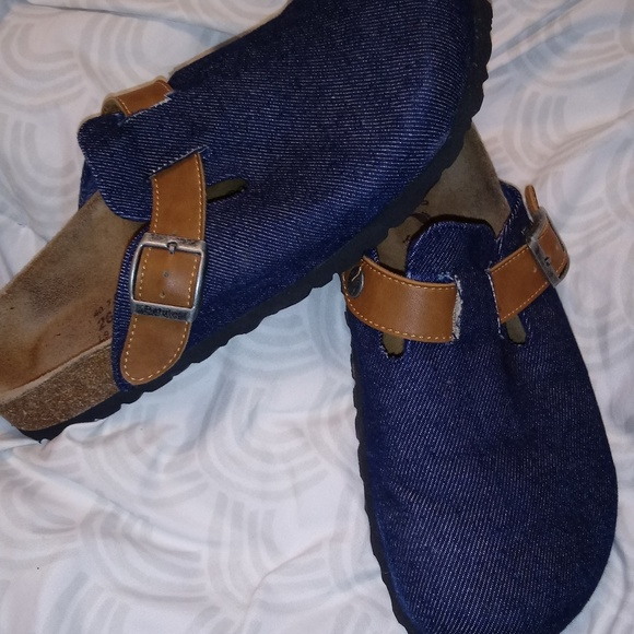 Betula Birkenstocks Denim Clogs 40 L9 M7 GUC